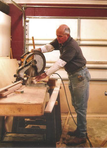 Gary White sawing